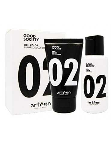 Travel Kit Rich Color 02 Shampoo 75 ml + Conditioner 50 ml  Artègo Hair Salon 8,00 €